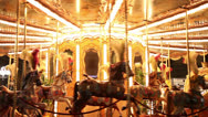 Stock Video Footage of Merry-go-round close up