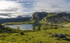lake ercina, asturias - stock photo