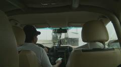 Driving in the rain, Abu Dhabi Stock Footage