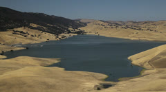 Los Vaqueros Reservoir Stock Footage