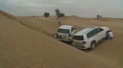Emirates Tours 4 wheel drive in desert. (4) Stock Footage