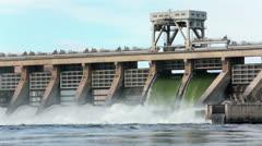 Stock Video Footage of McNary Dam Columbia River spillway Washington Oregon HD 7991