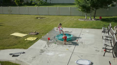 Kiddie Pool 2 Stock Footage