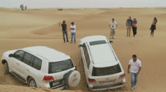 Emirates Tours 4 wheel drive in desert. (5) Stock Footage
