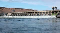 McNary Dam on Columbia River Oregon Washington HD 7989 - stock footage