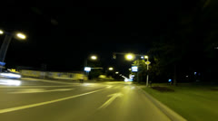 Night City Driving Stock Footage