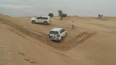 Emirates Tours 4 wheel drive in desert. (7) Stock Footage