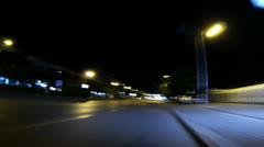 Night City Driving Stock Footage