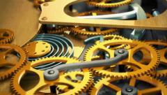 Animation of gears Stock Footage