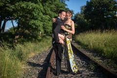 tango teachers in berlin - stock photo