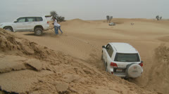 Emirates Tours 4 wheel drive in desert. (8) Stock Footage