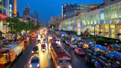 Time Lapse View of Central Bangkok at Central World. Stock Footage