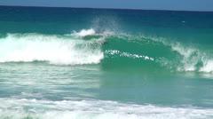 Ocean Waves, Shorelines, Crests, Tides, Sea Stock Footage