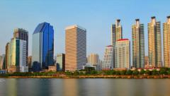 Bangkok city and the lake. Stock Footage