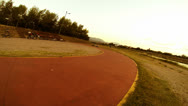 Recreation biking and jogging Stock Footage