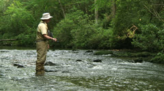 Trout Fishing 06 Stock Footage