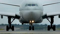 Huge airplane taxing - stock footage