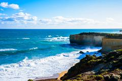great ocean road in australia1 - stock photo