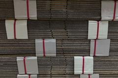The wood paper is ready for the manufacturing material. Stock Photos