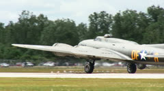 B17 takeoff - stock footage