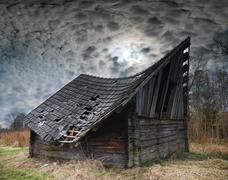 Stock Photo of old hayloft