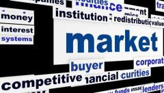 Market business concept Stock Footage