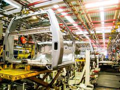 Car assembly line2 Stock Photos