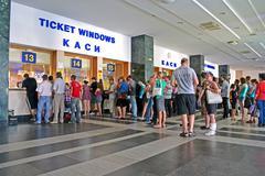 kiev - jun 17: kiev central rail station on june 17, 2013 in kiev, ukraine. - stock photo