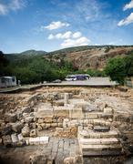 Jeroboam's Temple Excavation - stock photo