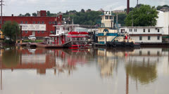 River Boats Stock Footage