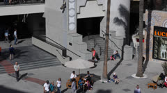 Highland Center Shopping Mall Center, Crowds People, Hollywood, Los Angeles, LA Stock Footage