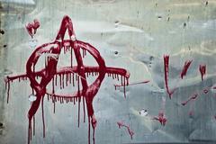 anarchy graffiti - stock photo