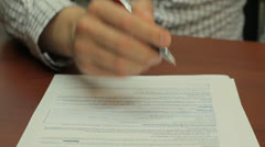 Application form - stock footage
