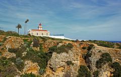 algarve lighthouse in lagos - stock photo