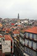 Porto rooftops in city landscape Stock Photos
