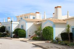 algarve houses - stock photo