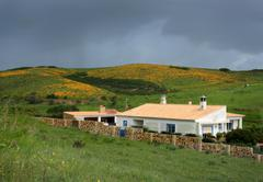 house in the hills of algarve - stock photo