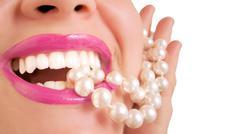 pearly whites - stock photo