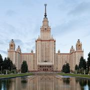 lomonosov moscow state university - stock photo