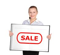 book with sale - stock photo