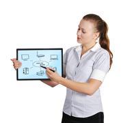 Tabletti tietokoneen verkko Kuvituskuvat