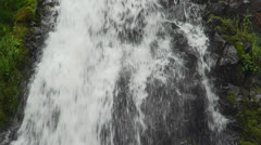 Cascading water over rock face Stock Footage