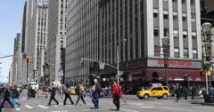 Ultra HD 4K Traffic Jam, Americas Avenue New York City, Rush Hour Crowded NYC Stock Footage