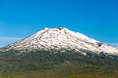 Mount Bachelor Closeup - stock photo