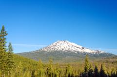 Mount Bachelor and Forest - stock photo