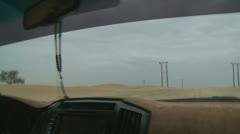 Desert sand dune driving (6) Abu Dhabi Stock Footage