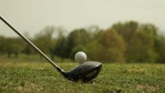 Golf ball Tee Off Stock Footage