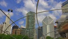 View from Pritzker pavilion Stock Footage