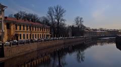 St. Petersburg, Russia, Fontanka river Stock Footage