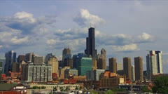 Chicago southern skyline - stock footage